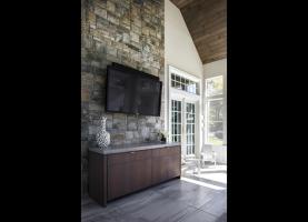 TV in Screened in Porch